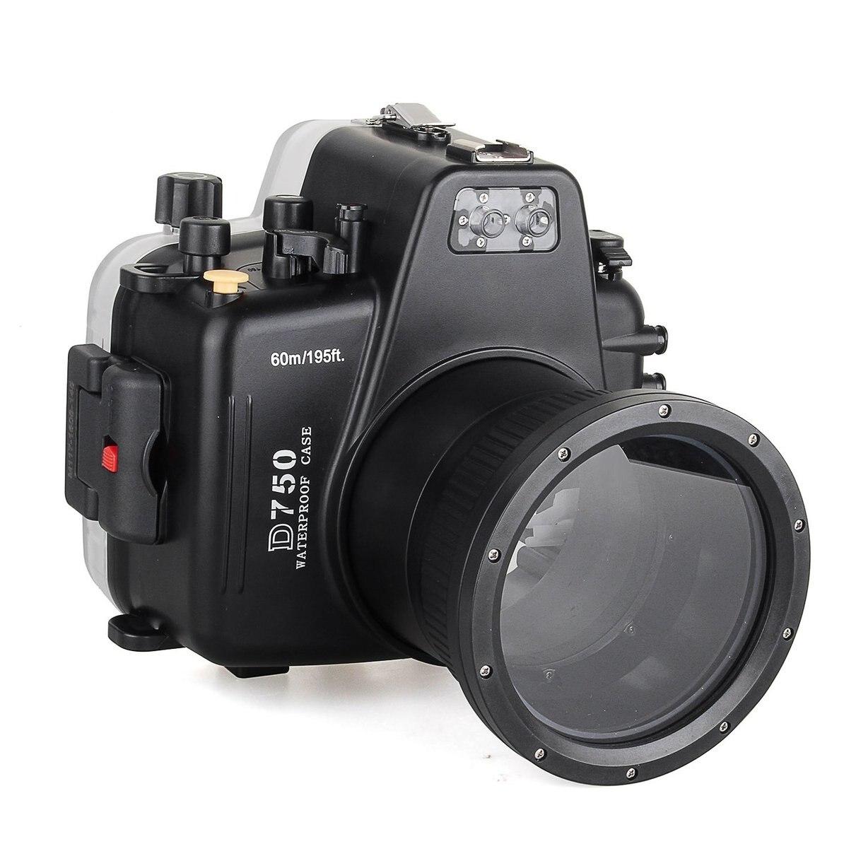 Meikon Waterproof Underwater Camera Housing Case Diving Equipment 60m/195ft for Nikon D750 meike mk d750 battery grip pack for nikon d750 dslr camera replacement mb d16 as en el15 battery