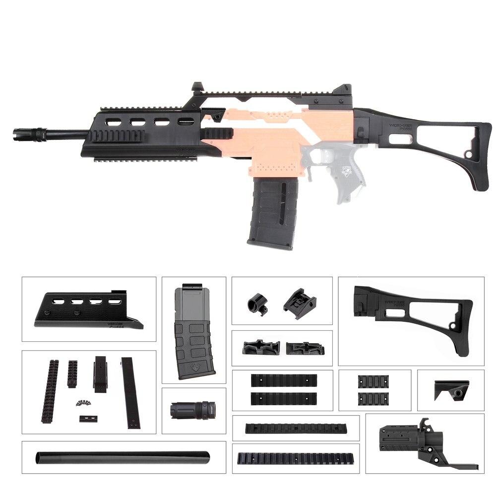 TRAVAILLEUR MOD F10555 G36 Fusil Imitation Kit 3D Impression Haute Résistance En Plastique Combo Pour Stryfe Modifier Jouet Pour Nerf Pièces jouets Accessoire
