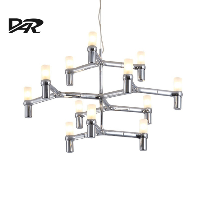 Perfekt Post Modern Chandeliers Aluminum Crown MAJOR Design Duplex Villa Restaurant  Lighting Black/White/Chrome