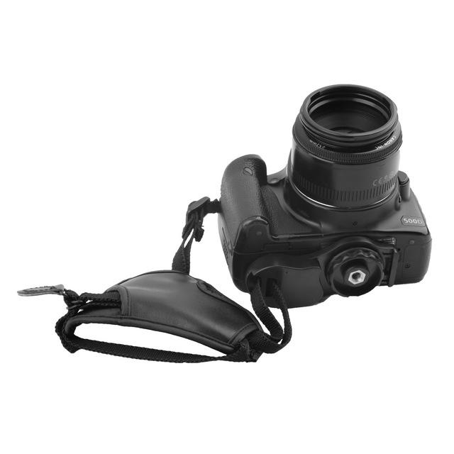 DSLR Camera PU Leather Grip Rapid Wrist Strap Soft Hand Grip Camera Bag Universal for Canon Nikon Sony Olympus Black Wholesale