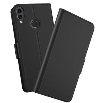 e0c5a72f2cfa Para Huawei Y9 2019 Honor 8C funda delgada abatible de cuero Mangeti ranura  para tarjeta Sandstone
