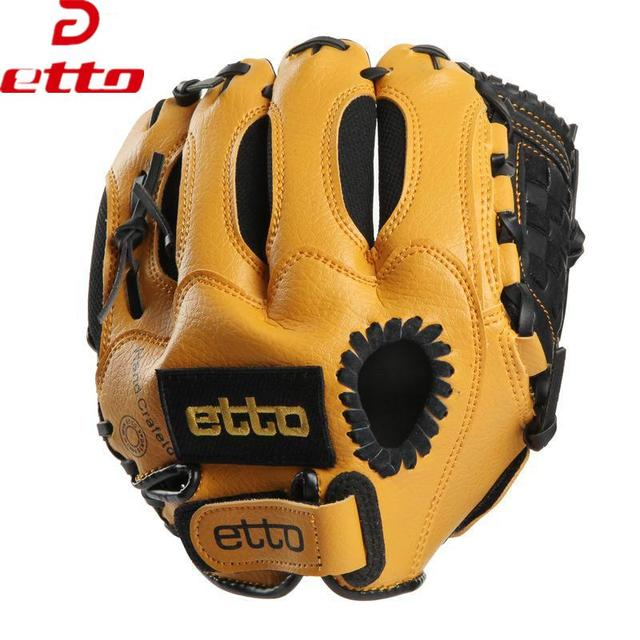 Etto Brand 10 Inches Children Baseball Gloves Left/Right Hand High Quality Professional Baseball Training Gloves For Kids