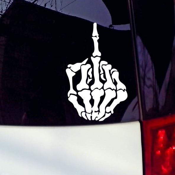 Skull Finger Waterproof Car Stickers And Vinyl Decals