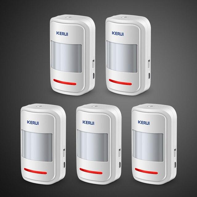 Kerui 5 шт. 3 шт. перезаряжаемый 5 В USB 433 МГц беспроводной PIR сенсор детектор движения для GSM PSTN охранная сигнализация