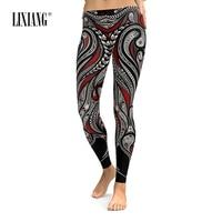 Lixiang Women Leggings 3D Cartoon Printing Stretch Elastic Workout Women Pants Fitness Cosplay Street wear