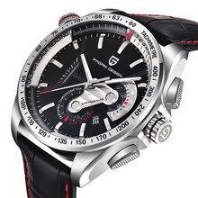 Top Luxusmarke PAGANI DESIGN Wasserdicht Quarzuhr Army Military Leder Uhr Sport männer Uhren Relogios Masculino