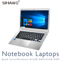 14.1 Inch Window10 Intel Atom Cherry Trail Z8350 Quad Core Laptop with 9000mAh Battery RAM 2GB ROM 32GB WiFi Ultra Slim Notebook