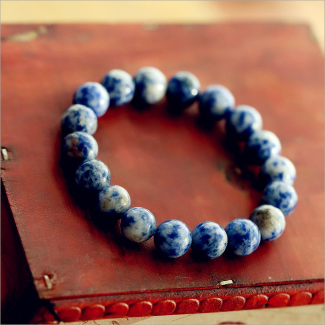 Fashion Natural Blue Stone Men Bracelet