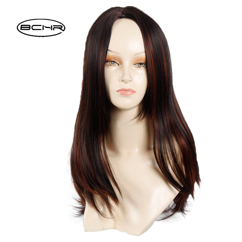 BCHR High Quality Heat Resistant Cheap Natural Female Wig Long Straight Heat Resistant Synthetic African American Wigs ...