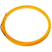 цена на Mayitr New 10M 3mm Guide Device Fiberglass Electric Cable Push Pullers Duct Snake Rodder Tape Wire  Yellow