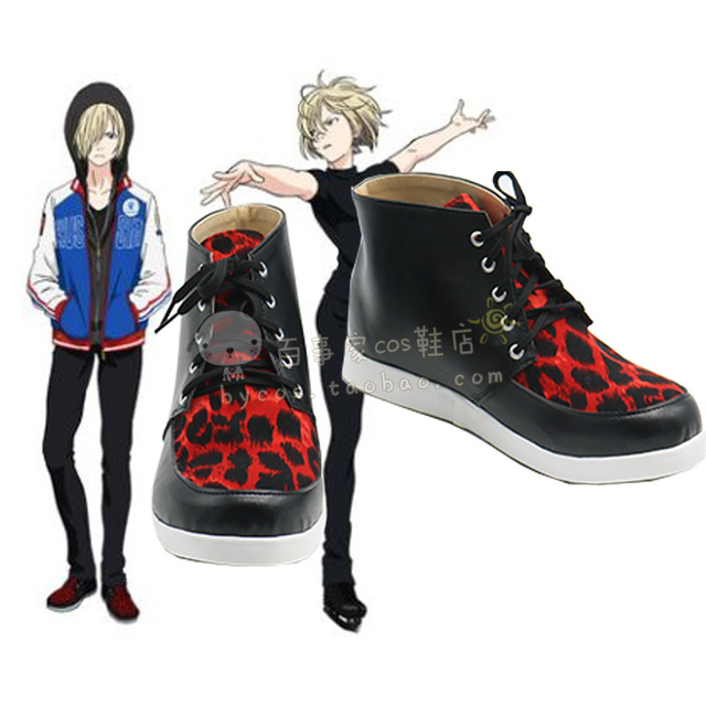 Nueva YURI! sobre HIELO Plisetsky Yuri cosplay botas Animado de zapatos A Medida