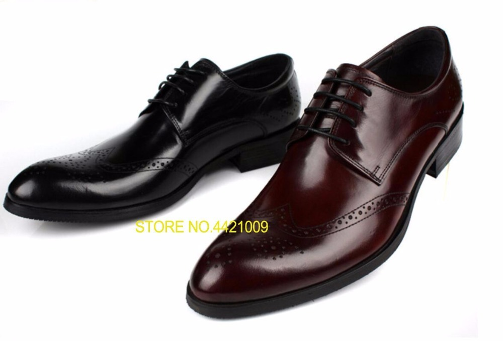 Burgundy Black Man Wedding Dress Leather Shoes Oxfords 2018 Lace Up Spring Autumn Business Formal Driving Oxfords Shoes Size 45 burgundy cami playsuit with lace details