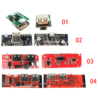 5V 1A 2A DIY Mobile Power Bank Circuit Board PCB Motherboard Boost Step Up Charger Module USB 18650 Lithium Battery Charging