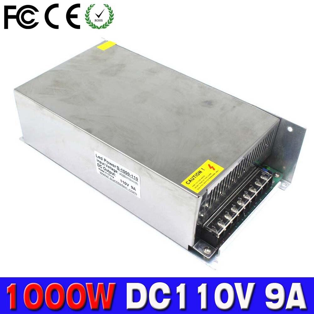 Один выход 1000 Вт 9A 110 В постоянного тока импульсный трансформатор драйвера 220 В переменного тока в DC110V SMPS для ЧПУ машина