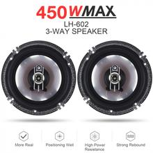 2pcs 6 Inch 450W 3 Way Car Coaxial  Auto Audio Music Stereo Full Range Frequency Hifi Speakers Non-destructive Installation