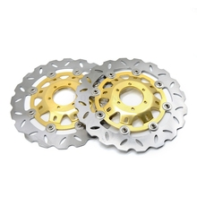 цена на Motorcycle accessories Front Disc Scooter Front Rear Brake Rotor For HONDA CB400 CB 400 VTEC400 VTEC 400 1999-2010 2001 2009 08