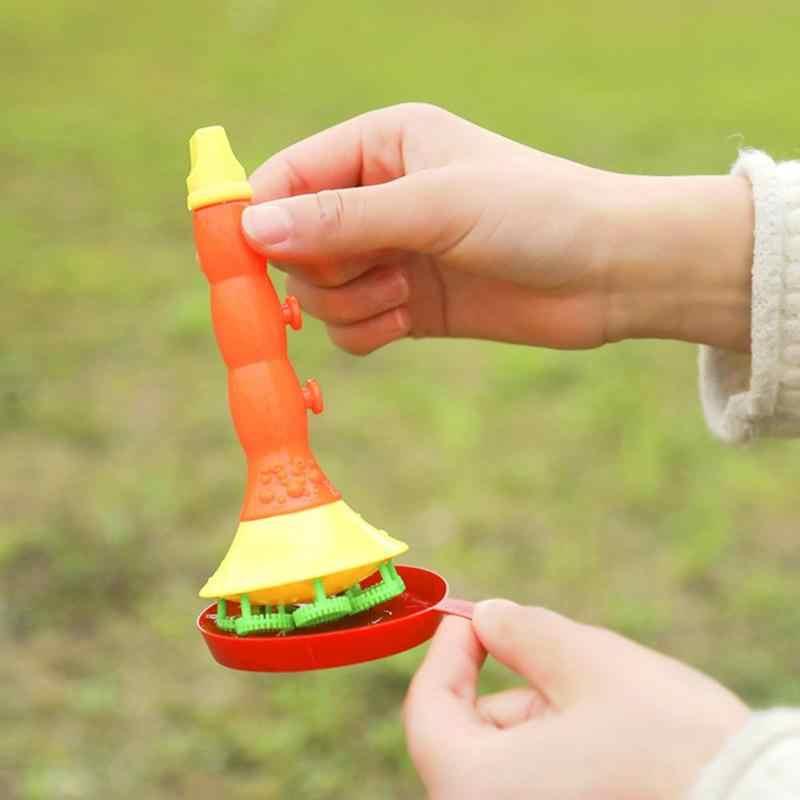 สบู่ที่มีสีสันเป่าฟองฮอร์นไม่มี Liquild เข้มข้น Stick ถาดเด็กชุดของเล่นฤดูร้อนกลางแจ้ง Bubble Machine ของเล่นของขวัญ