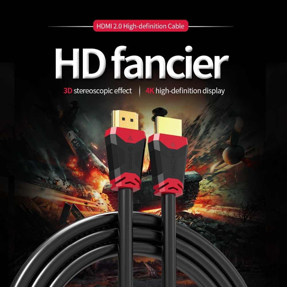 ORICO HDMI 1,4 HDMI 2,0 4 к 3D 18 Гбит/с HDMI к HDMI кабель для HD ТВ ЖК-дисплея ноутбука PS3 Кабель проектора 0,5 м 1 м 1,5 м 2 м 3 м 4 м 5 м
