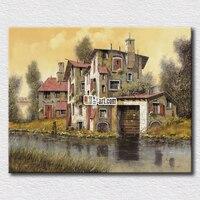 작은 briver 사진 인쇄 캔버스 평화로운 생활 회화 홈 장식 풍경 캔버스 인쇄