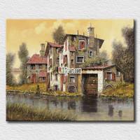 A tiny briver pictures printed on canvas peaceful life paintings for home decoration landscape canvas printing