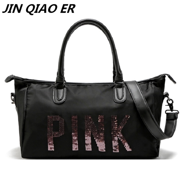 366ce1f15531 2018 new fashion hot design PINK Duffle Bag Tote Marl pink beach vs pink bag  black color handbag Shopping bag