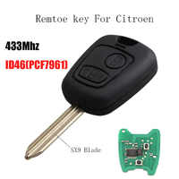 Car remote control Key 2 Buttons 434Mhz For Citroen Saxo Picasso Xsara  Berlingo with PCF7961 chip