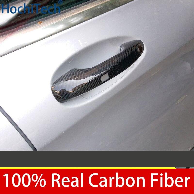 100% Réel En Fiber De Carbone Auto Extérieure Manche De Porte pour Mercedes Benz Classe E W213 2016 2017 2018 Voiture Style