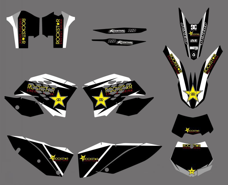 Motorycle Team Graphics Decals Stickers For KTM 125 144 150 200 250 350 400 450 505