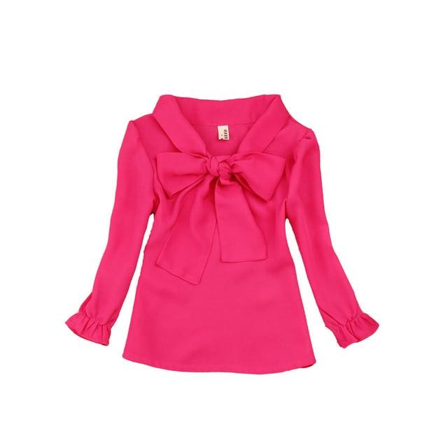 d8f7cb2ac Adolescentes gasa Blusas para Niñas niños ropa primavera otoño niños  Camisas 18 m 24 m 4 6 8 9 10 12 14 años estudiantes Camisetas Tees