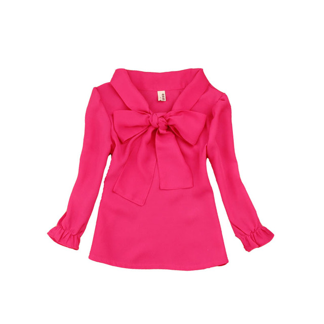 d340d5f8e € 8.93 23% de DESCUENTO Aliexpress.com: Comprar Blusas de chifón para niños  adolescentes para Niñas Ropa Infantil primavera otoño niños camisas ...