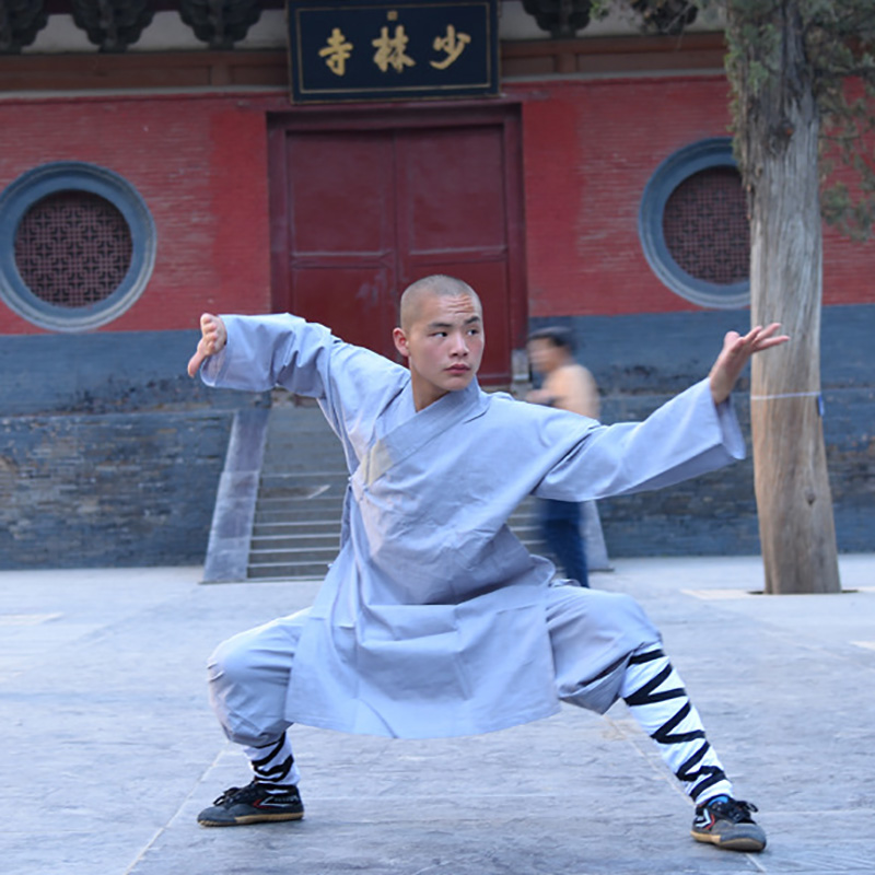 USHINE 008 Height 100cm-180cm Cotton Children ShaoLin KungFu Uniform Performance Suits Clothing Costume Anzug Man Boys