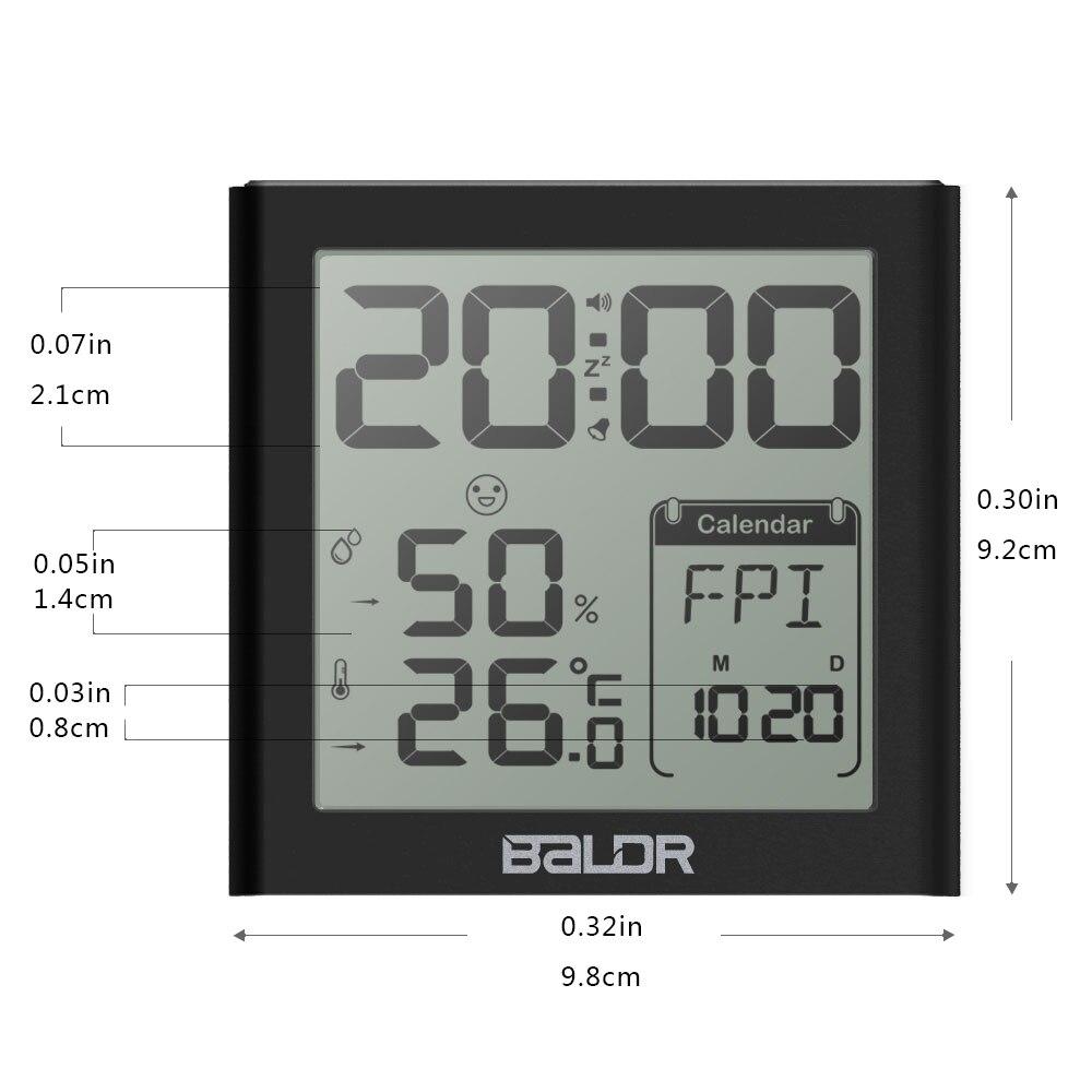 Baldr Digital Clock Alarm Snooze Күнтізбе Күнтізбе - Үйдің декоры - фото 2