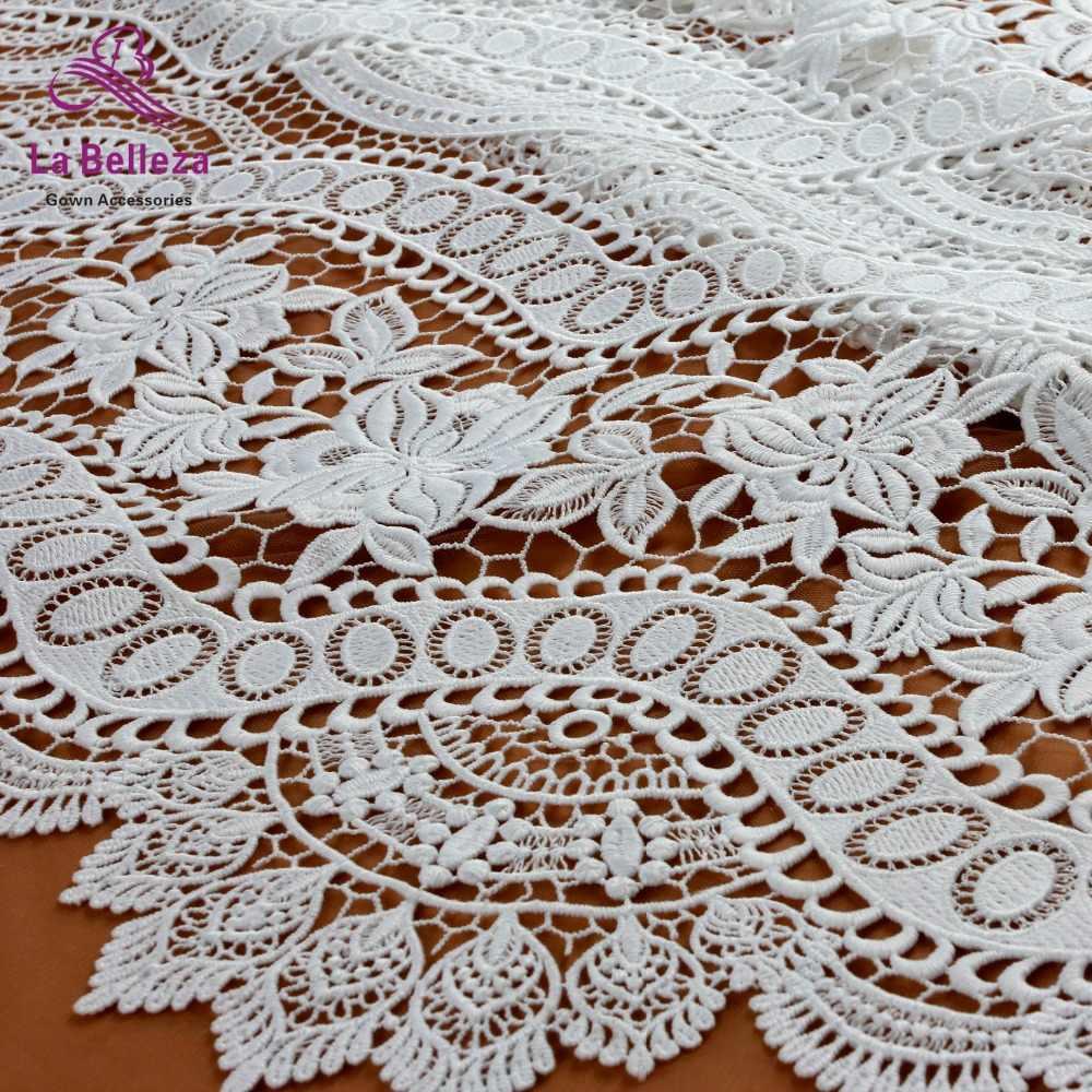 ניו כבויה לבן מים מסיס הולו רקום טול/נטו weddingdress תחרה בד DIY תפירת אביזרי תחרה בד