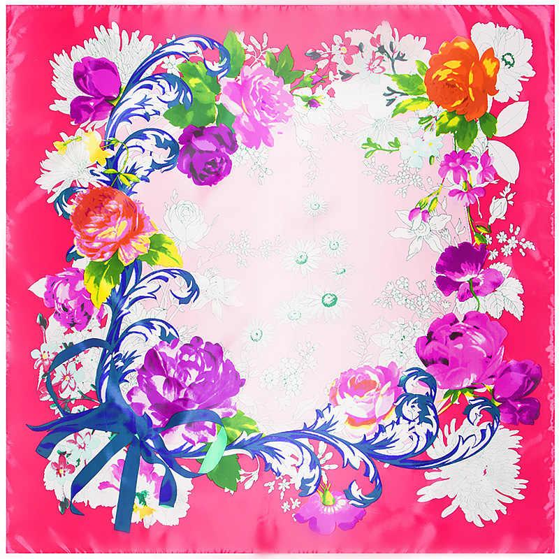 2018 22 colori 90 cm * 90 cm Nuova Stampa Twill Sciarpa di Seta donne di Modo di Disegno Bandana Della Sciarpa Scialli di Lusso marca Sciarpe di Seta