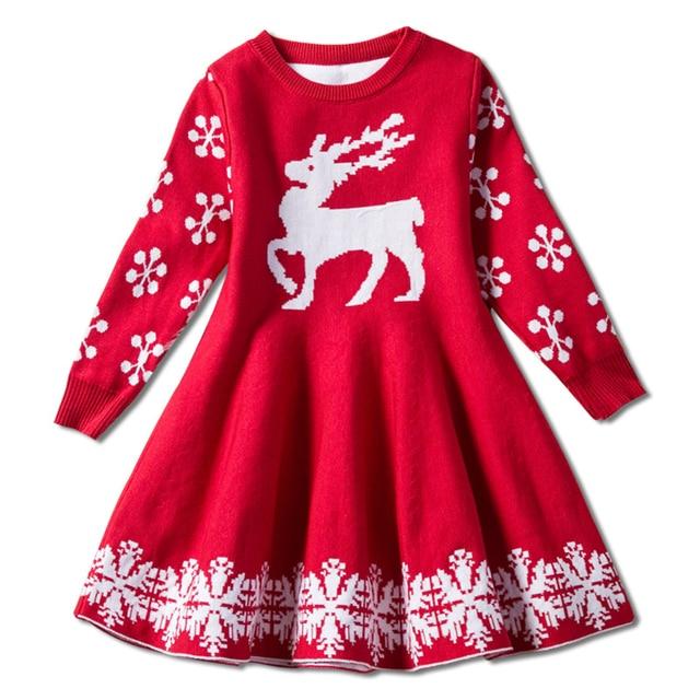 cbe3a3f7f142 Toddler Girl Winter Clothes Dress Unicorn Clothing Long Sleeve New Year Eve  Dresses New Born Kids Animal Print Princess Costume