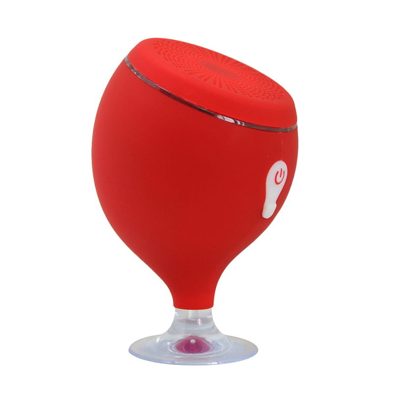 Whale Wine Glass Floating Colorful 6 Level S6 Full Waterproof Suction Cup Bathroom Patented Bluetooth Speaker Outdoor