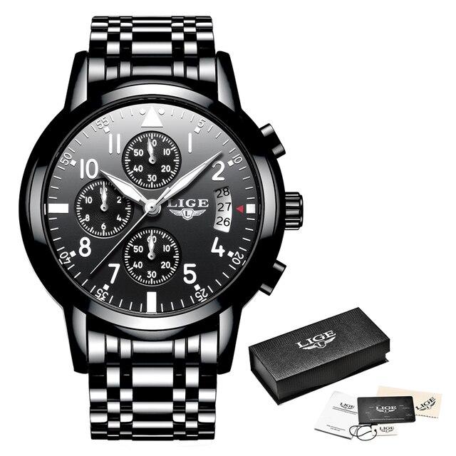 lige 2020 мужские часы лучший бренд класса люкс модные деловые фотография
