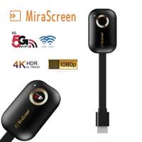 Mirascreen автомобильный домашний wifi дисплей 5G 2,4G зеркальный экран 4K 1080P беспроводной HDMI Miracast Android tv stick chromecast/Airplay cast