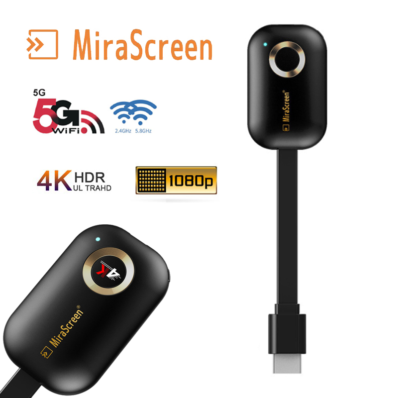 Mirascreen voiture maison wifi affichage 5G 2.4G miroir écran 4K 1080P sans fil HDMI Miracast Android tv stick chromecast/Airplay cast