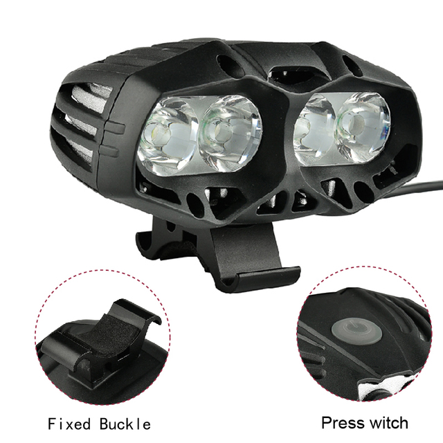 5000 Lumen USB Rechargeable Bicycle Light MTB Bike Light Zoom Flashlight Waterproof Built-in Battery Bicycle Accessories 3