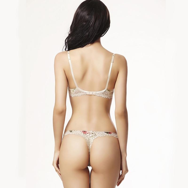 c30b98181a128 New Love Lingerie set Lace push up bra sexy thin bra & Panties sets Flower  Charming Underwear Brief Lingerie Women underwear-in Bra & Brief Sets from  ...