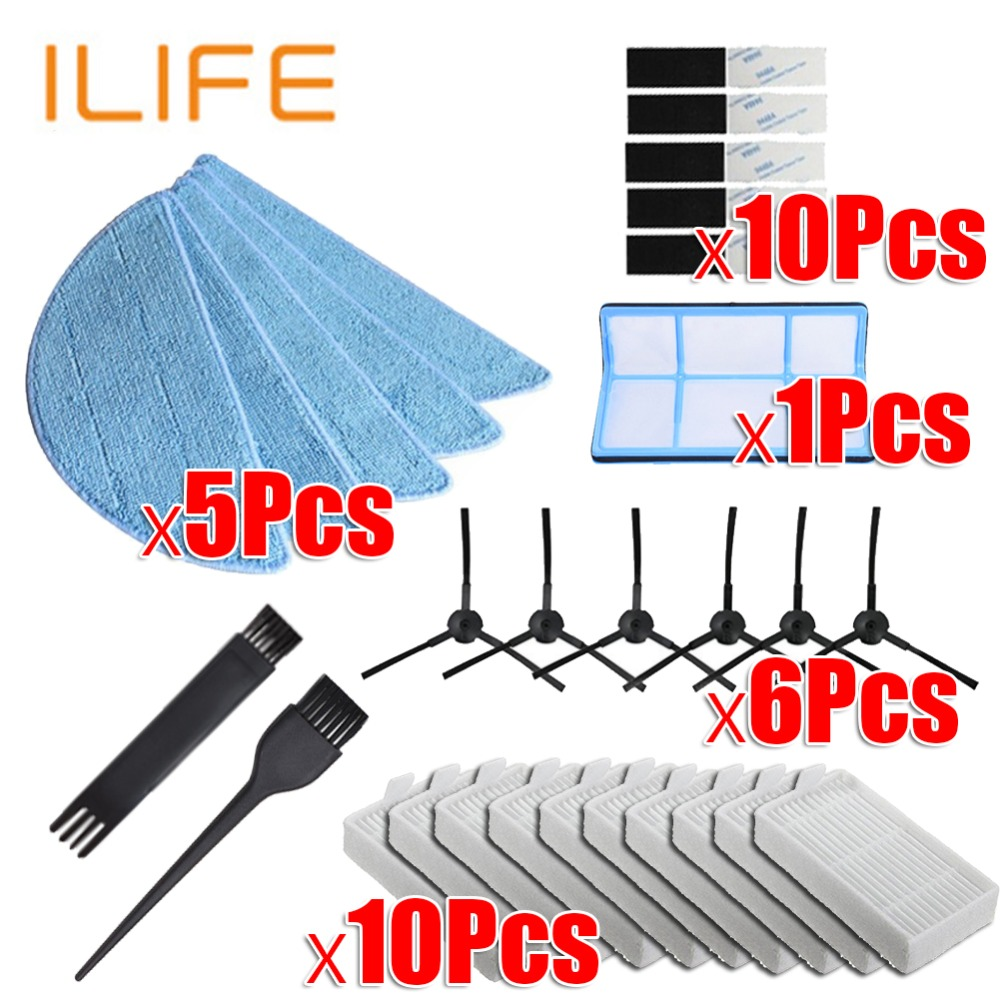 vacuum robot cleaner Parts side brush Primary dust Filter mop Hepa Filter for ilife v5 v5s V3 V3s v5pro V50 V55 x5 v5s provacuum robot cleaner Parts side brush Primary dust Filter mop Hepa Filter for ilife v5 v5s V3 V3s v5pro V50 V55 x5 v5s pro