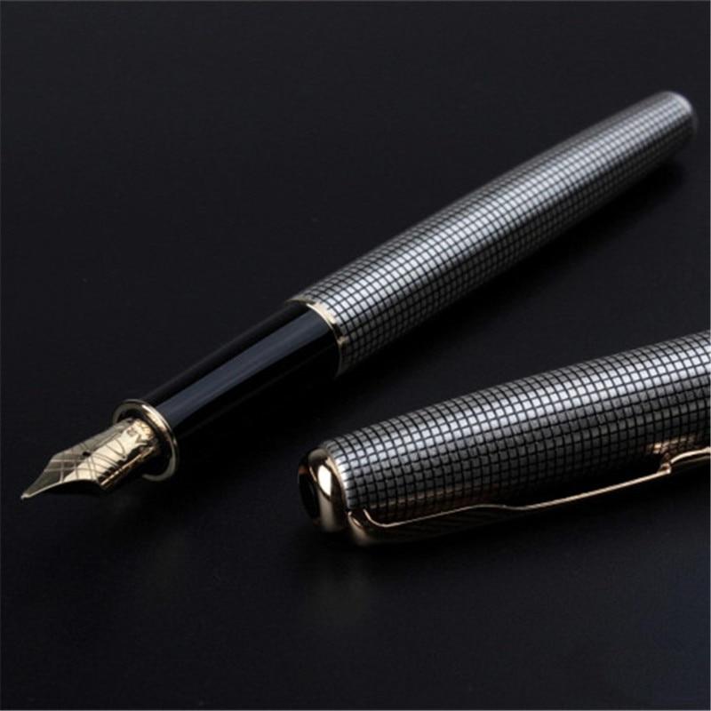 1pc/lot Sonnet Fountain Pen Plaid Silver Pens Gold Clip Sonnet Pen Retail Box brand Stationery Fast Writing 13.3*1.3cm