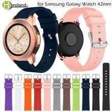 Силиконовый ремешок для часов samsung galaxy watch 42 мм 20