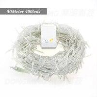 50 M 500 LEDS 220 V/110 V LED luzes da árvore de natal decoração de festa de casamento Twinkle luz led string luz do feriado