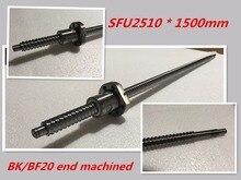 1 шт. 25 мм ШВП проката C7 ballscrew SFU2510 1500 мм BK20 BF20 end обработки + 1 шт. SFU2510 ШВП Гайка
