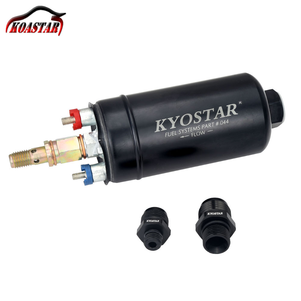 KYOSTAR EFI 380LPH 044 Style E85 Compatible Fuel Pump 1000HP PQY External Fuel Pump With 10AN 8AN Fitting