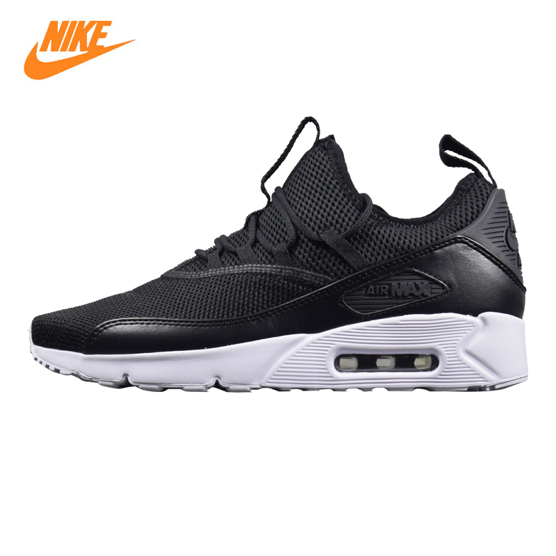 Nike Air Max 90 EZ Men Running Shoes, Black & White, Shock Absorbent Breathable Lightweight Wear-resistant AO1745 001
