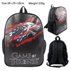 15 Inch Anime Game Of Thrones Backpack For Teenagers Boys Girls School Bags Travel Bag Children