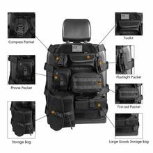 Chuang Qian Universal Seat Cover Case Organizer Storage Muti Pocket fit Jeep Wrangler TJ JK JL CJ YJ Cherokee Patriot Compass